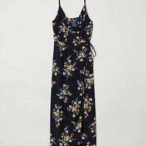 H&M Black Floral Maxi Dress